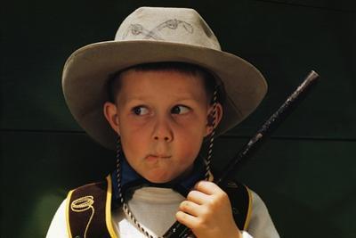 Boy Playing Cowboy with Gun by William P. Gottlieb