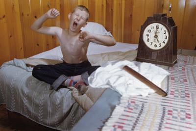 Boy Waking Up by William P. Gottlieb