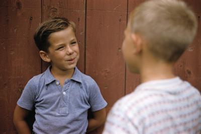Boys Sharing Secrets by William P. Gottlieb