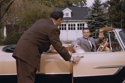 Businessman Dropping off Carpooler by William P. Gottlieb