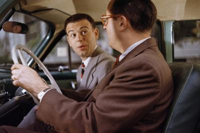 Businessmen Carpooling to Work by William P. Gottlieb