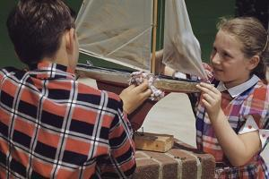 Children Cleaning a Model Ship by William P. Gottlieb
