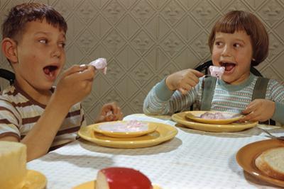 Children Eating Melting Ice Cream by William P. Gottlieb