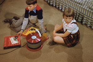 Children Listening to Records by William P. Gottlieb