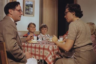 Children Sitting Quietly While Parents Talk by William P. Gottlieb