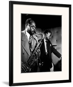 Coleman Hawkins and Miles Davis by William P. Gottlieb