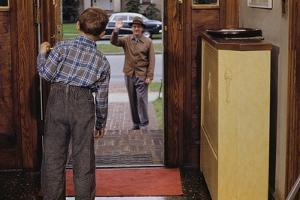 Father Waving Goodbye to Son by William P. Gottlieb