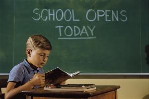 First Day of School by William P. Gottlieb