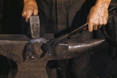 Hammering Horseshoe by William P. Gottlieb