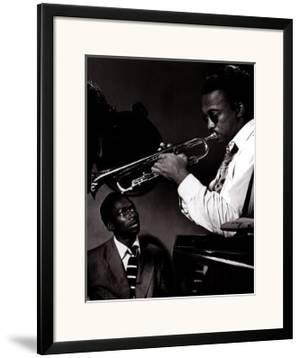 Howard McGhee and Miles Davis by William P. Gottlieb