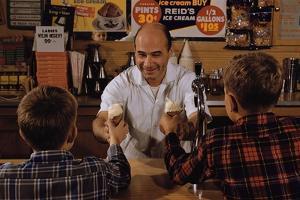 Man Handing Children Ice Cream Cones by William P. Gottlieb