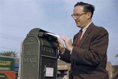Man Mailing a Letter by William P. Gottlieb