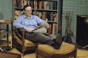 Man with a Newspaper at Home by William P. Gottlieb