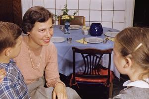 Mother Talking with Children before Dinner by William P. Gottlieb