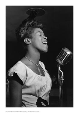 Sarah Vaughan at Microphone by William P^ Gottlieb