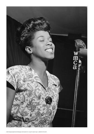 Sarah Vaughan, WMCA Microphone by William P. Gottlieb