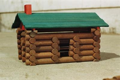 Toy Log Cabin by William P. Gottlieb