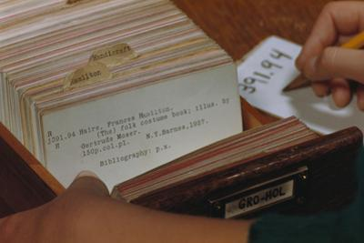 Using Library Card Catalog by William P. Gottlieb