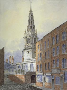 Church of St Bride, Fleet Street, City of London, C1815 by William Pearson