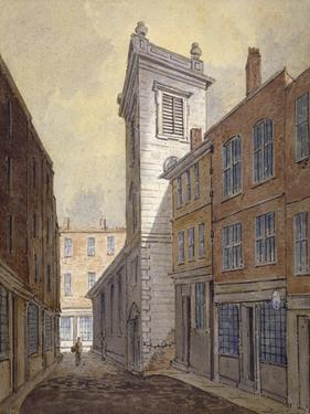 Church of St George Botolph Lane from George Lane, City of London, C1813 by William Pearson