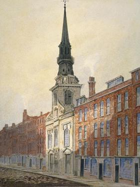 Church of St Martin Within Ludgate and Ludgate Hill, City of London, 1815 by William Pearson