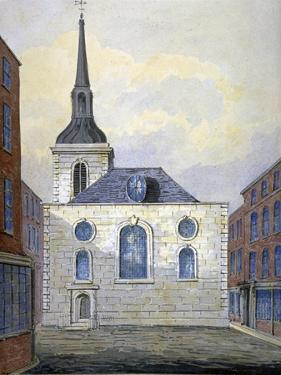 Church of St Mary Abchurch, City of London, C1815 by William Pearson