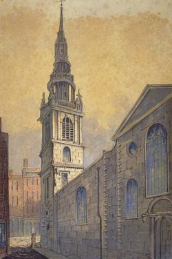 Church of St Mary Le Bow from Bow Churchyard, City of London, C1815 by William Pearson