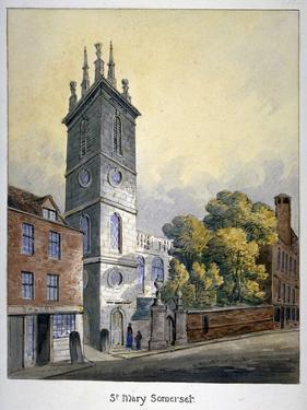 Church of St Mary Somerset, City of London, C1815 by William Pearson