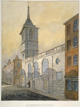 South-East View of the Church of St Margaret Lothbury, City of London, 1815 by William Pearson