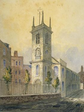 South-West View of the Church of St Olave Jewry, City of London, 1815 by William Pearson