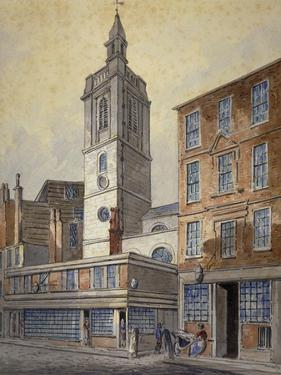 View of St Dionis Backchurch, City of London, 1815 by William Pearson