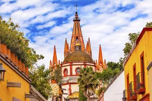 Aldama Street Parroquia Archangel Church. San Miguel de Allende, Mexico. by William Perry