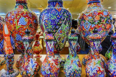 Ancient Arab Islamic Flower Designs on Vases, Madaba, Jordan by William Perry