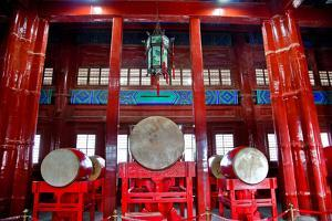 Ancient Chinese Drums Drum Tower, Beijing, China by William Perry