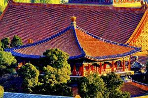 Blue Pavilion, Forbidden City, Gugong, Beijing, China by William Perry