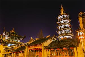 Buddhist Nanchang Nanchang Temple Pagoda Tower Wuxi Jiangsu Province, China by William Perry