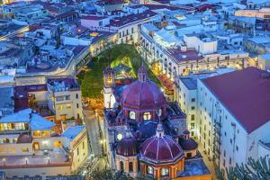 City overlook in blue light, Guanajuato, Mexico by William Perry