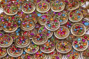 Colorful Souvenir Jewelry, Guanajuato, Mexico by William Perry