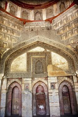 Decorations Inside Ancient Sheesh Shish Gumbad Tomb Lodi Gardens, New Delhi, India by William Perry