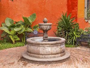 Fountain Plaza Juarez Park, San Miguel de Allende, Mexico. by William Perry