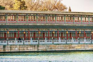Jade Island, Beihai Lake Park, Beijing, China. Beihai Park was created in 1000 AD. by William Perry