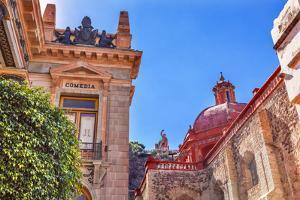 Juarez Theater, Temple De San Diego, San Diego Church, Guanajuato, Mexico. by William Perry