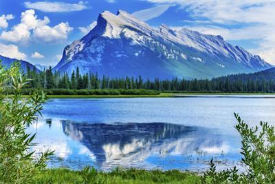 Lake Minnewanka Mount Inglismaldie, Banff National Park, Alberta, Canada by William Perry