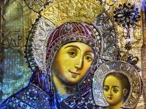 Mary and Jesus Icon, Greek Orthodox Church of the Nativity Altar Nave, Bethlehem, Palestine by William Perry
