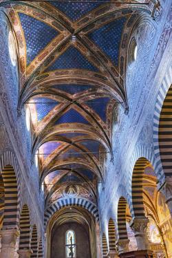 Medieval Renaissance nave, Collegiate Church of Santa Maria Assunta, San Gimignano, Tuscany, Italy. by William Perry