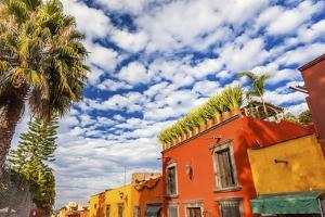 Orange Yellow Town Streets, San Miguel de Allende, Mexico. by William Perry