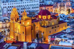 Our Lady of Guanajuato Church Guanajuato, Mexico From Le Pipila Overlook by William Perry