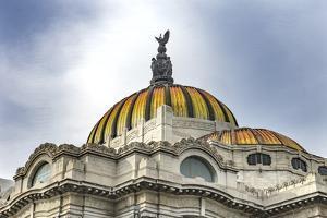 Palacio de Bellas Artes, Mexico City, Mexico. Mexican Eagle on top. by William Perry