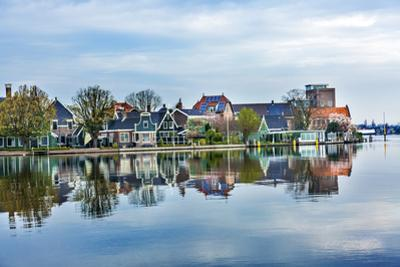 River Zaan Zaanse Schans Old Village Countryside, Holland, Netherlands. by William Perry