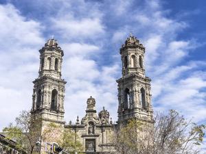 San Hipolito Church, Mexico City, Mexico. On Reforma Avenue, established 1521. by William Perry